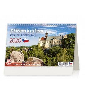 Table calendar Křížem krážem Českou republikou 2020