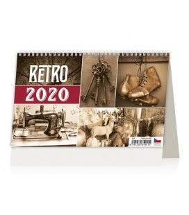 Table calendar Retro 2020