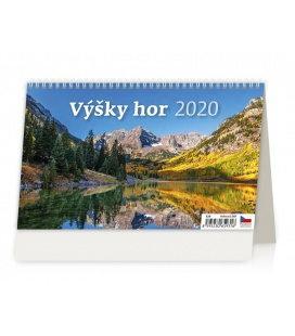 Table calendar Výšky hor 2020