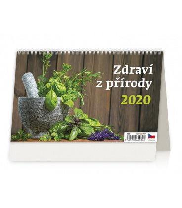 Table calendar Zdraví z přírody 2020