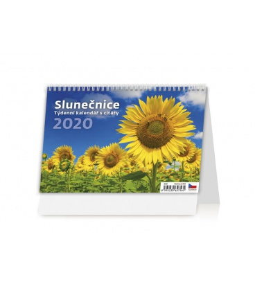Table calendar Slunečnice 2020