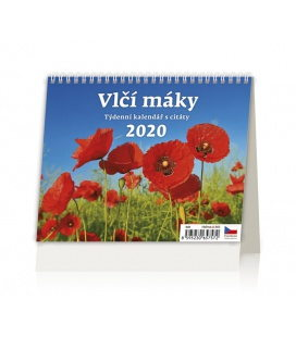 Table calendar Vlčí máky 2020