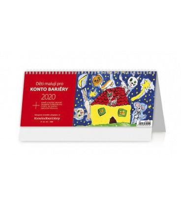 Table calendar Děti malují pro Konto Bariéry 2020