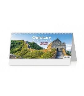 Table calendar Obrázky ze světa/Obrázky zo světa 2020