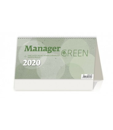 Table calendar Manager Green 2020