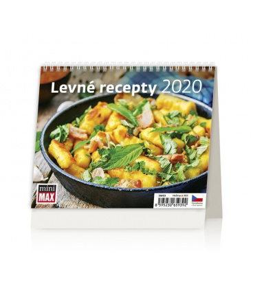 Table calendar Minimax Levné recepty 2020