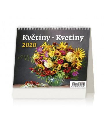 Table calendar MiniMax Květiny/Kvetiny 2020