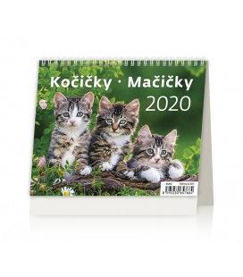 Table calendar Minimax Kočičky/Mačičky 2020