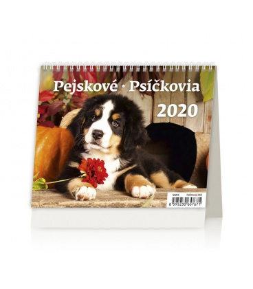Table calendar Minimax Pejskové/Psíčkovia 2020
