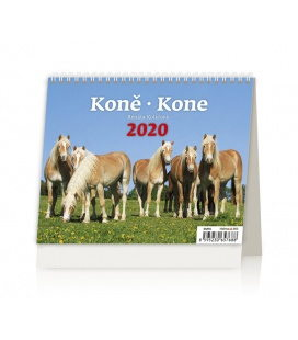 Table calendar Minimax Koně/Kone 2020