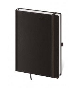 Daily Diary A5 Double Black s poutkem na propisku 2020