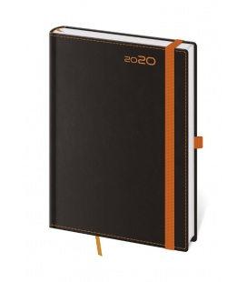 Weekly Diary A5 Black Orange s poutkem na propisku 2020