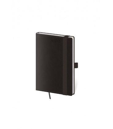 Weekly Pocket Diary Double Black s poutkem na propisku 2020