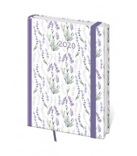 Daily Diary A5 Vario - Lavender s gumičkou 2020