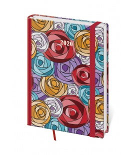 Daily Diary A5 Vario - Roses s gumičkou 2020