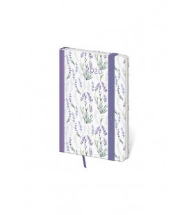 Weekly Pocket Diary Vario - Lavender s gumičkou 2020