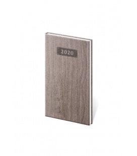 Weekly Pocket Diary Wood 2020