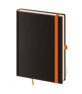 Notepad - Zápisník Black Orange - lined L 2020