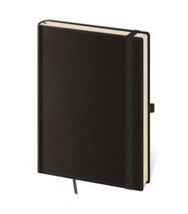 Notepad - Zápisník Double Black - lined L 2020