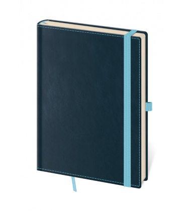 Notepad - Zápisník Double Blue - lined M 2020