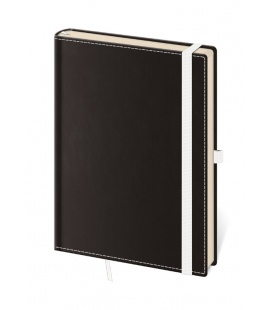 Notepad - Zápisník Black White - lined M 2020
