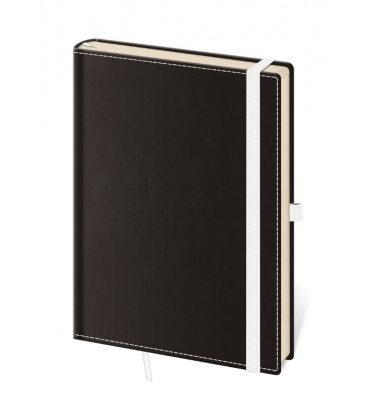 Notepad - Zápisník Black White - lined M 2020
