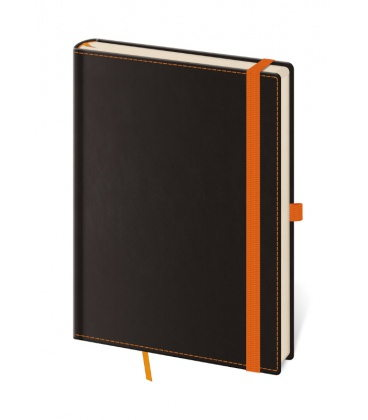 Notepad - Zápisník Black Orange - lined M 2020
