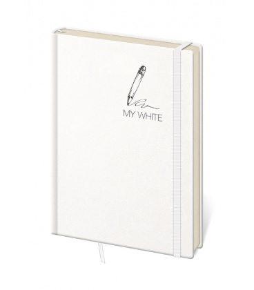 Notepad - Zápisník My White - dotted M 2020
