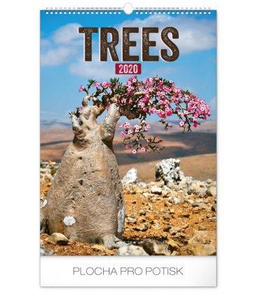 Wall calendar Trees 2020