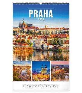 Wall calendar Prague 2020
