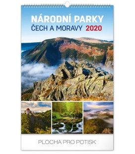 Wall calendar Národní parky Čech a Moravy 2020