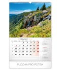 Wall calendar Czech mountains and rocks 2020