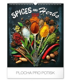 Wall calendar Spices and herbs 2020