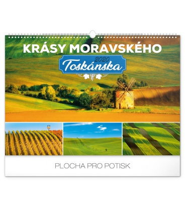 Wall calendar Beauty of Moravian Tuscany 2020