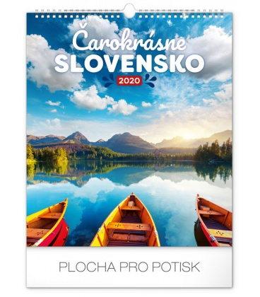 Wall calendar Čarokrásne Slovensko 2020