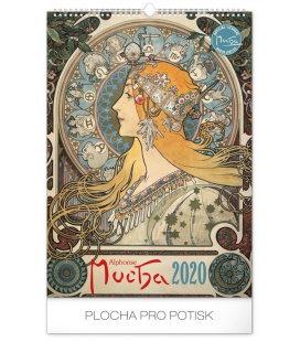 Wall calendar Alphonse Mucha 2020