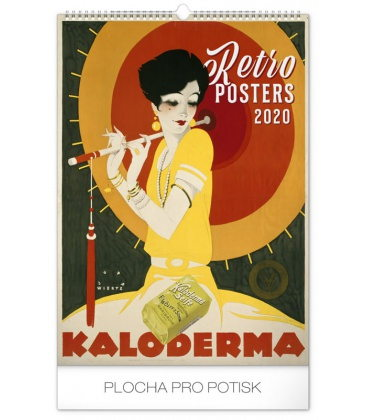 Wall calendar Retro Posters 2020
