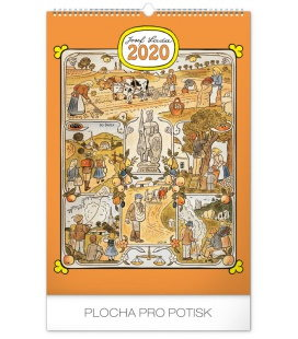 Wall calendar Josef Lada – Months of the year 2020