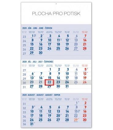 Wall calendar 3months standard blue with Slovak names 2020