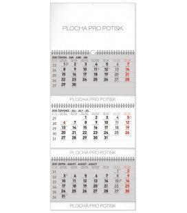 Wall calendar 3months standard foldable with Czech names 2020