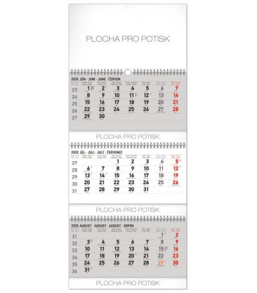 Wall calendar 3months standard foldable with Slovak names 2020