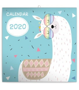 Wall calendar Happy llamas 2020