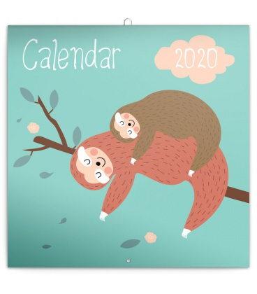 Wall calendar Happy Sloths 2020