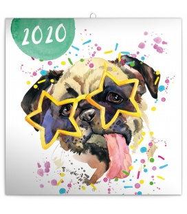 Wall calendar Watercolour friends 2020