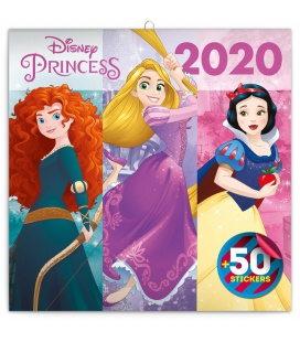 Wall calendar Princess, DIY: 50 stickers 2020