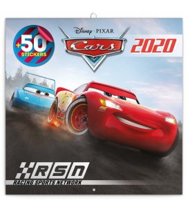 Wall calendar Cars 3, DIY: 50 stickers 2020