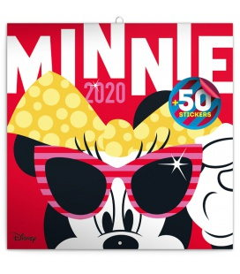 Wall calendar Minnie, DIY: 50 stickers 2020