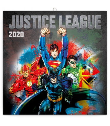 Wall calendar Justice League 2020