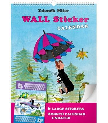 Wall calendar The Little Mole – wall sticker 2month calendar, undated 2020
