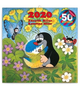 Wall calendar The Little Mole, DIY: 50 stickers  2020